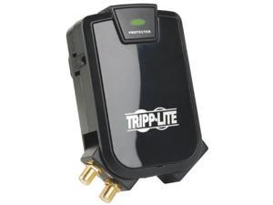 Tripp Lite 3 Outlet (2-Fi 1 Rotating) Direct Plug-in Surge Protector Coax/Ethernet (TLP31SAT)