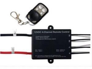 Logisys Computer RM09 12VDC Remote Relay Switch with 4 Outputs, Key Fob