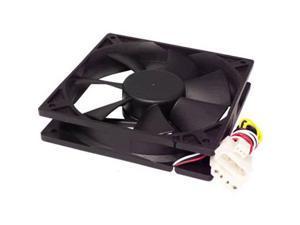 120mm Black Computer PC Cooling Case Cooler Fan w/ 4-Pin Molex by BattleBorn