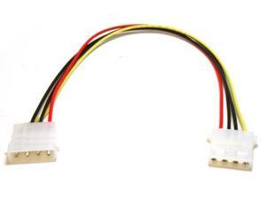 """12"""" 1 Foot 4-Pin Molex Male to Female Power Extension M-F 1' Cable IDE Supply"""