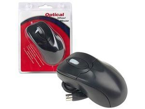 Executive 3-Button Office Class Black PS/2 Optical Mouse Mice Plug and Play
