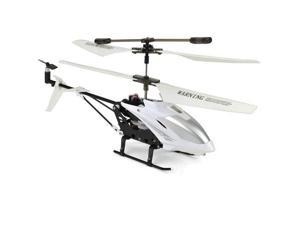 Gyro RC Helicopter White Remote Control Twin Propeller Toy w/ iPhone Control