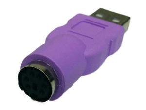 Keyboard PS/2 Female to USB Male Adapter - PS2 to USB Adapter
