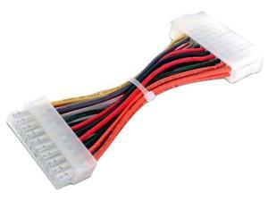 24 pin to 20 pin ATX Power Supply PSU Adapter Male to Female Cable Cord 6""