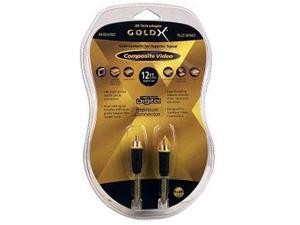 GoldX 12ft PlusSeries M/M RCA Composite Video Cable (GXAV-Y-12P B23)