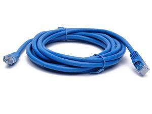 BattleBorn 10 ft Feet LAN Net Cat6a UTP RJ45 Ethernet Network Cable Cord 10 Gigabit - Blue