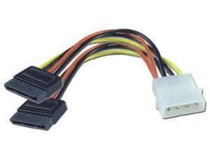 """6"""" Serial ATA Power Y-Cable (4-pin - 15-pin) For Dual Serial ATA (SATA) Devices"""