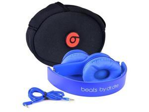 Beats by Dr. Dre Solo HD Foldable On-Ear Stereo Headphones w/Detachable Inline Remote/Mic 3.5mm Cable & Case (Blue)