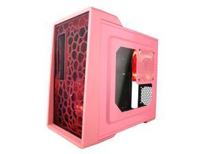 Apevia Mid Tower ATX Case with Window and 500W PSU (Pink)