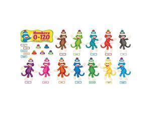 Trend Sock Monkeys Coll. Bulletin Brd Numbers Set