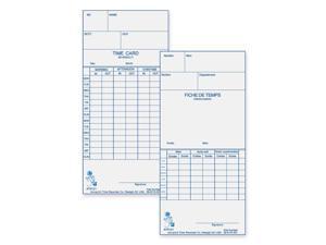 Acroprint Weekly/Bi-Weekly Time Cards
