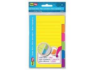 Redi-Tag 4x6 Sticky Ruled Divider Notes