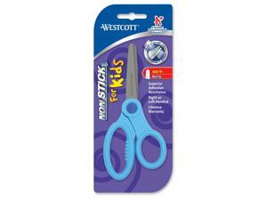"Non-Stick Kids Scissors 5"" Long Pointed Assorted Colors"