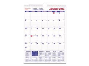One Month Per Page Twin Wirebound Wall Calendar 8 x 11 2016