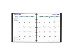 MiracleBind 17-Month Academic Planner Hard Cover 11 x 9 1/16 Black 2016-2018