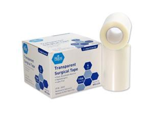 """MedPride 62204 Transparent Surgical Tape 3""""W x 10 Yards Roll 4 Rolls/Box"""