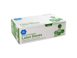 MedPride 50155 Latex Exam Gloves Large Non-Sterile Powdered 100/BX
