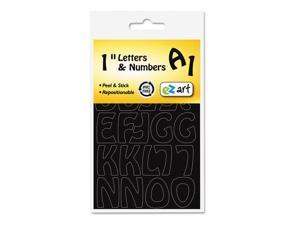 "Self-Adhesive Caps & Numbers Hobo Black 1"" 93 per pack"