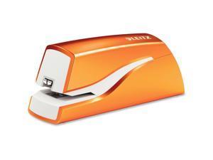 Electric Staple 10Sht Cap Battery Powered Orange