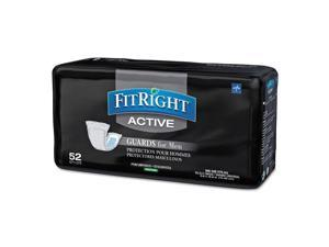 FitRight Active Male Guards 6 x 11 White 52/Pack