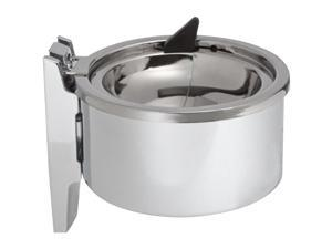 "Deluxe Wall Ashtray Round 4"" Chrome"
