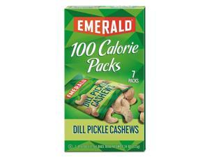 100 Calorie Pack Nuts Dill Pickle Cashews  0.62 oz Pack 7 Packs/Box