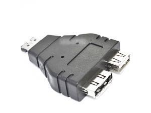 Combo Power eSATA male to eSATA female & USB female Adapter 1 in 2 new