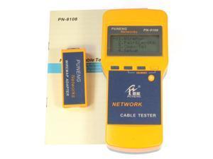 CAT5 RJ45 Network Cable Tester Analyzer Meter Length PN8108 Multifunction LAN Phone Coaxial Meter Digital