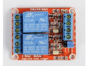 24V 2-Channel Relay Module with Optocoupler H/L Level Triger for Arduino Raspber