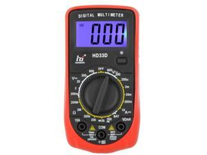 HD33D Digital Multimeter DMM Ammeter Voltmeter Ohmmeter Backlight Battery Test