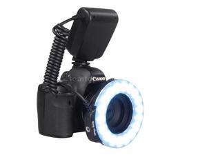 Macro 18PCS LED Ring Flash Light RF600D Speedlite for Nikon Canon DSLR Cameras