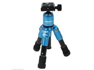 Ultra Compact Desktop Macro Mini Tripod Kit Ball Head for Canon Nikon DSLR Blue