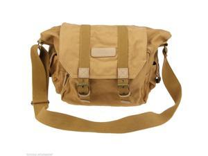 Canvas Messenger Vintage Casual Bag Case for Canon Nikon with Inner Bag Khaki