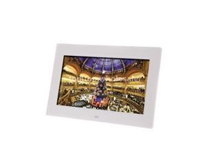 "10.1"" Ultrathin HD Digital Photo Frame Alarm Clock MP3/4 Movie Player White EU"