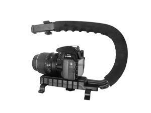C Shape Bracket Video Handheld Stabilizer Grip for DSLR Camera Mini DV Camcorder U Shape