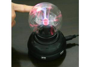 Colorful USB Hub Plasma Ball High Speed USB 2.O 4 Ports Touch Lighting Hub