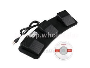 3 Triple USB Foot Control Switch Keyboard + Mouse Action Pedal HID