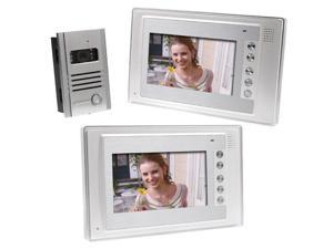 7 Inch Video Door Phone Doorbell Intercom Kit Night Vision 1-camera 2-monitor