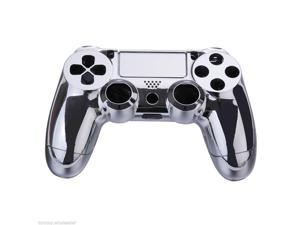 Gamepad Controller Housing Shell w/Buttons f Playstation4/PS4 DualShock 4 silver