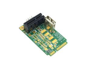 Mini PCI-E to PCI-E Express 1X Extension Cord Adapter Card with USB Riser Card