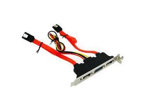 2 Ports SATA to eSATA II & IDE Power PCI Bracket Slot SATA II extension Cable