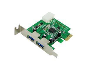 Low Profile Half Height Super speed 2 Port USB 3.0 PCI-E Express Card