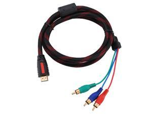 Foxnovo 1.5m 5ft HDMI to 3-RCA Male Audio Video Component Convert Cable For HDTV 1080P