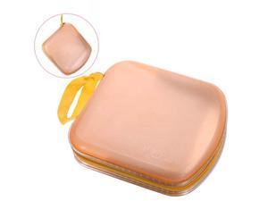 Foxnovo Portable Clear Plastic 40 CD DVD VCD Disc Holder Storage Box Bag Wallet Case Protector Organizer (Orange)