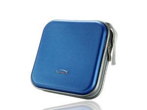 Foxnovo E40 Portable Plastic 40 Disc CD DVD VCD Wallet Storage Bag Case Organizer (Blue)