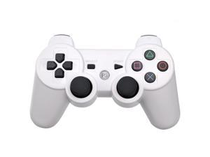 Foxnovo Dual Shock Bluetooth Wireless Controller for Sony PS3 (White)