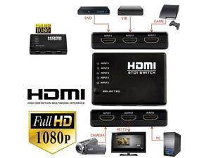 Foxnovo 5-port HDMI Auto Switch Switcher Selector Splitter Hub Box with IR Remote Control for HDTV / PS3 / Xbox 360 (Black)