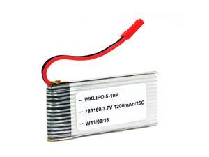 Foxnovo 3.7V 1200mAh 25C Rechargeable Lipo Battery for GYRO Hercules Unbreakable RC Helicopter ZX-35850
