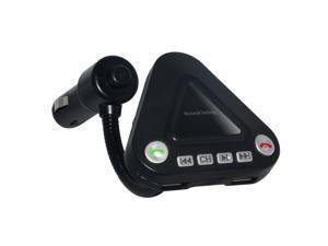 Foxnovo Car Bluetooth Car MP3 Kit with Handsfree Function / FM Transmitter / USB Charging Port / TF Card  Slot (Black)
