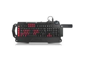 Foxnovo Professional Gaming Keyboard Mechanical Keyboard Wired USB Keyboard (Black+Red)